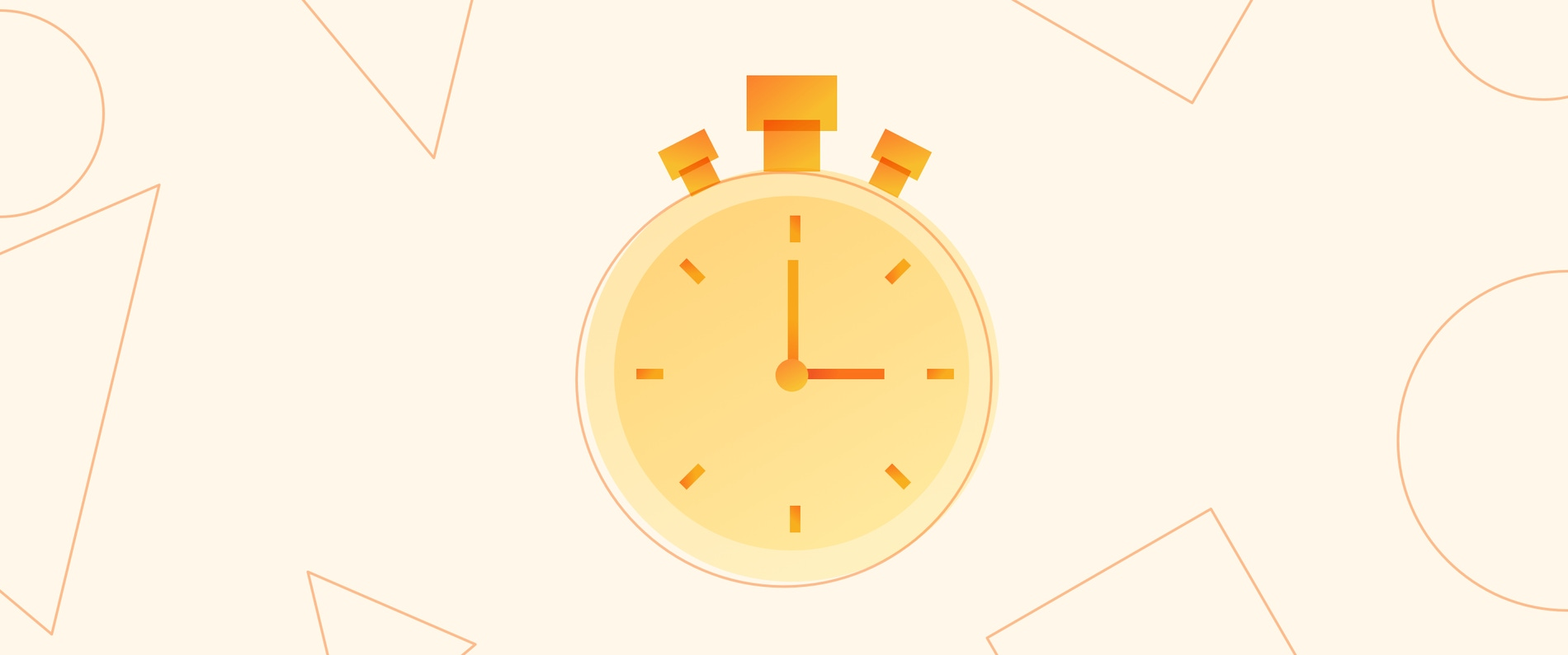 The header image of a blog post about design sprints, showing an illustrated image of a stopwatch