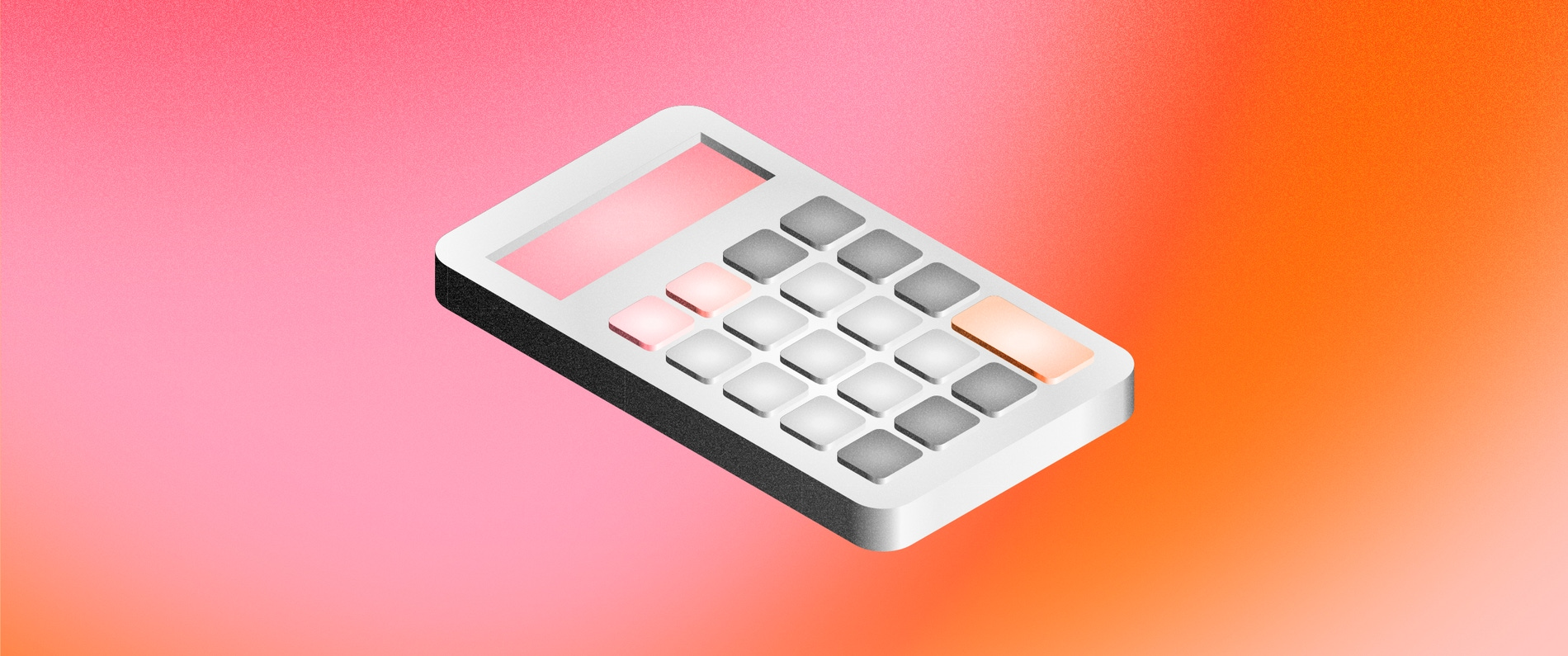 Cover image featuring a calculator on top of a coral background.