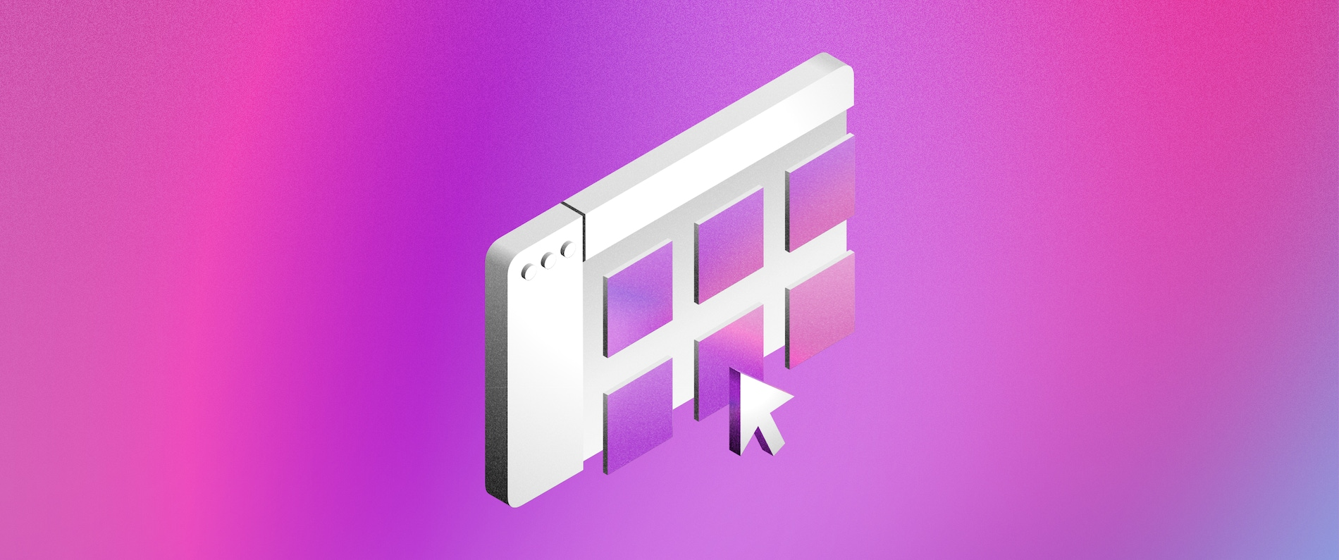 Header image depicting a window with tiles with a purple background.